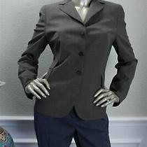 Luxurious Akris Dark Gray Brown Wool Jacket 40 10 Photo