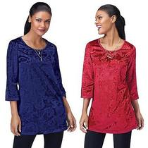 Luxurious Velveteen Tunic Blue or Red  Photo