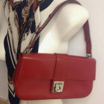 Luxury Authentic Salvatore Ferragamo Leather Red Hand Bag  Italy Photo