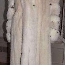 Luxury  Blush Creme Mink &  Fur  Trim and Sleeves Full Length Coatsz..12.  Photo