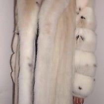 Luxury  Blush Creme Mink &  Fur  Trim and Sleeves Full Length coatsz.12.  Photo