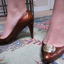 Luxury Botkier Copper Patent Heel Size 38 Us 8 Photo