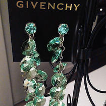 Luxury Crystal Blue Long Dangle Shoulder Cocktail Earrings by Givenchy Photo