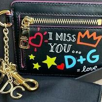 Luxury Dolce & Gabbana Graffiti-Key Chain W/ Gold d&g Charm Zipper & Key Ring Photo