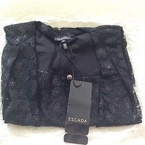 Luxury Escada Black Elegant Blouse for Women I Photo