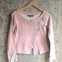 Luxury Miss Sixty Cotton Sweatshirt Fabric Flowers Blush Pink Nwot Xs Photo