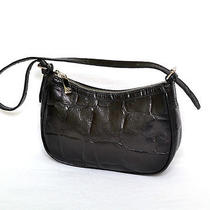 Luxury Mulberry Croc Embossed Leather Pochette Purse  Photo