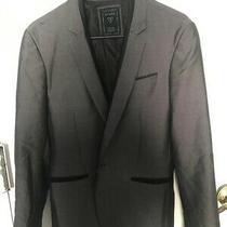 Luxury Party Grey Velvet Blazer Money Guess Sexy Men Size Small Wealth Rich Photo