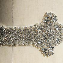 Luxury Wedding Belt Swarovski Rhinestone Pearls Beaded Crystal Sash 100%High-End Photo