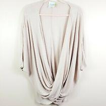 Lysse Womens Size S Blush Pink Dolman Sleeve Thin Knit Wrap Front Sweater  Photo