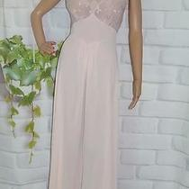 M 36 Vintage Gown Old Hollywood Pinup Girl Style Lingerie Blush Emboridered Top Photo