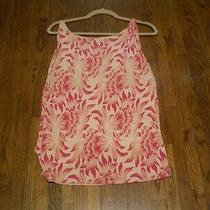 M-a-G by Magaschoni Silk Blend Pink Floral Design Sleeveless  Tank Top  Sz. M  Photo
