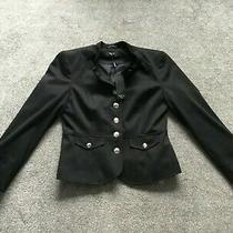 M & Co Petite Ladies Bnwt Short Black Heritage Bloom Jacket / Blazer - Size 12 Photo