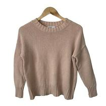 M Magaschoni Blush Pink Cotton Long Sleeve Womens Sweater Size Small Photo