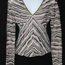 M Missoni Art-to-Wear Textured Wool Woven Knit v-Neck Sweater Top Sz 4 Eu 36 Photo