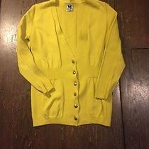 M Missoni Chartreuse Knit Cardigan Sweater Size S Casual Fun Fabulous Photo
