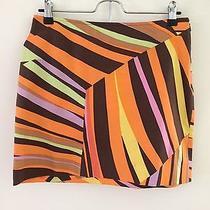 M Missoni Cotton Striped Multi Color Mini Skirt Women's Small S Photo
