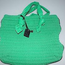 M Missoni Crinkled Green Tote Shopper Bag Photo