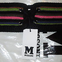M Missoni Crocheted Belt Size M Photo