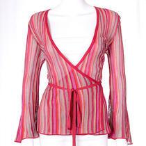 M Missoni Italy Multi Color Striped Cardigan Wrap Sweater Sz 46 Us 10 M Photo
