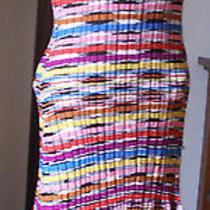 M Missoni..italy..zig Zag Knit..full of Color..knit Dress Photo