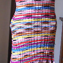 M Missoni..italy..zig Zag Knit..full of Color..knit Dress Photo