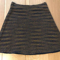 M Missoni Knit Skirt It 42 Uk 8 10 Navy Blue Amber Orange Gold a-Line Knitted Photo