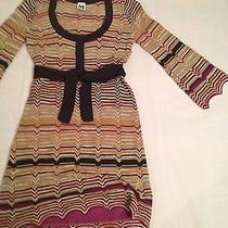 M Missoni  New Iconic Wool Chevron Shimmer  Dress Italy Size M  Photo
