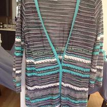 M Missoni Open Weave Cardigan Metallic Aqua Purple It 42 / Us 8 Photo