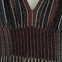 M Missoni Striped v-Neck Cocktail Dress Photo