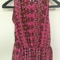 M Missoni Women's Silk Printed Sleeveless Top Size 40 Made in Italy Nwot Photo