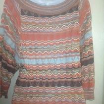 M Missoni Zig-Zag Crochet-Knitted Top Sweater 42 Us 8 Made in Italy 599 Photo