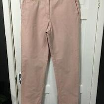 m&s Collection Size 10 Blush Pink Trousers Slim Fit / Straight Leg  Photo