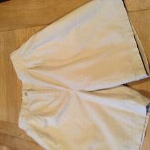 m&s Size 12 Waist 26 Beige/stone Chino Shorts 100% Cotton Excellent Photo