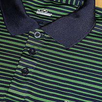 M  Under Armour Indian Hills Golf Club Striped Polo Shirt  66.85 Photo