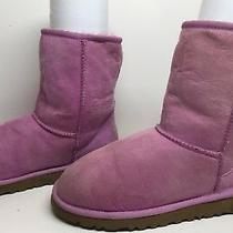 M Womens Ugg Australia Winter Suede Pink Boots Size 6 Photo