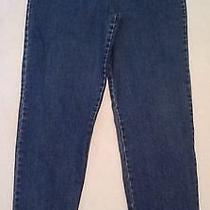 M4 Gloria Vanderbilt Sz 14 Long Womens Skinny Denim Blue Jeans (Tape32 X 33) Photo