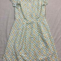 M52 Euc Jason Wu Pearl Short Sleeve Blue Yellow Full Cocktail Dress Women's 6 Photo