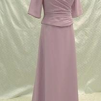 M7 Bonny Evening Cocktail Long Dress Wedding Mother Orchid Sz 14 Photo