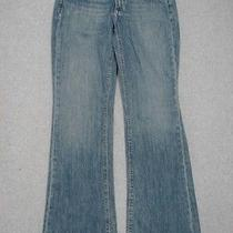 Ma23435 Fossil Brand Smith Low Rise Flare Womens Jeans Sz4r Photo