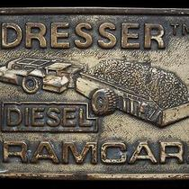 Ma29140 Vintage 1970s Dresser Diesel Ramcar Coal Mining Belt Buckle Photo
