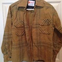 Mac Campbell  Shirt Vintage Wool Tan and Green Size Small Mens 1940s Photo