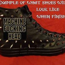 Machine Head Metal Custom Studded Converse Chuck Shirt Sneakers Shoes W Spikes Photo