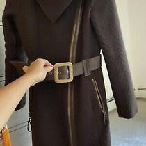 Mackage Brown Belted Coat Jacket Petite Small Womens Dressy  Photo