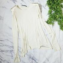 Mackage Collection Ivory Strong Shoulder Long Sleeve Patch Tunic Blouse M 8 10 Photo