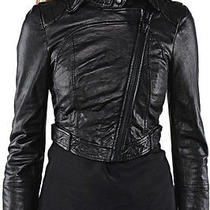 Mackage  Jadyn Cropped Leather Jacket Size Small Photo
