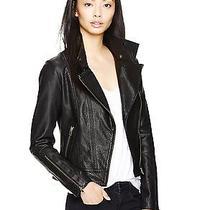 Mackage Kenya Black Leather Moto Motorcycle Biker Jacket Asymmetrical Zip Small Photo