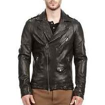 Mackage Lambskin Leather Motorcycle Jacket Photo