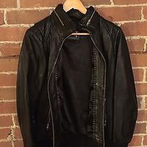 Mackage Leather Bomber Jacket - Black - Large Photo