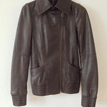Mackage Leather Brown Motorcycle Jacket- Size Xs Photo